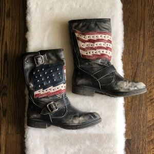 Distressed freepeople boots